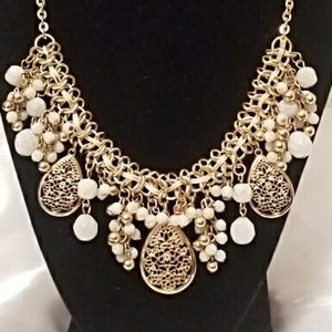 Goldtone Necklace with Faux Stones - NWOT